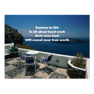 Hard work and success postcard
