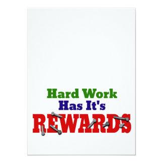 Hard Work Appreciation Card