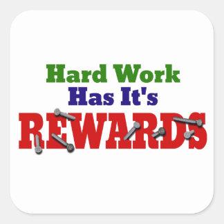 Hard Work Appreciation Square Sticker
