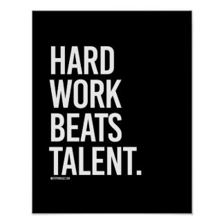 Hard Work Beats Talent -   Training Fitness -.png Poster