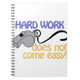 Hard Work Notebook