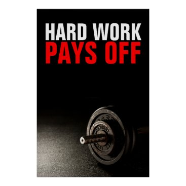 Art Themed Hard Work Pays Off Bodybuilding Training Poster