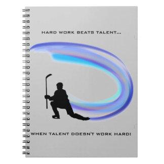 HARD WORK SPIRAL NOTEBOOK