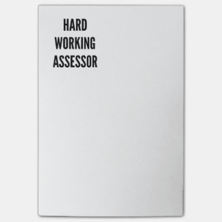 Hard Working Assessor Post-it Notes