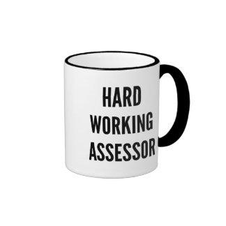 Hard Working Assessor Ringer Coffee Mug