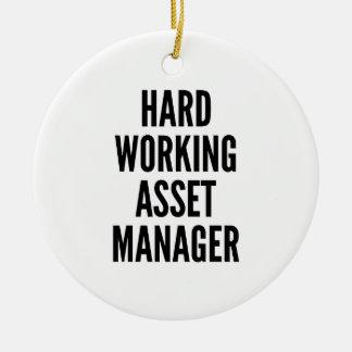 Hard Working Asset Manager Ceramic Ornament