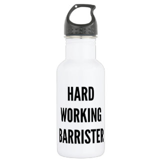 Hard Working Barrister Stainless Steel Water Bottle