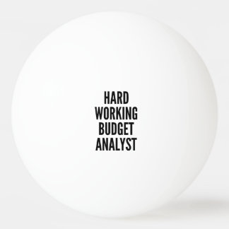 Hard Working Budget Analyst Ping Pong Ball