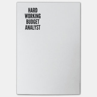 Hard Working Budget Analyst Post-it Notes