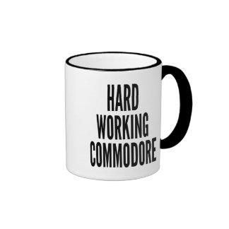 Hard Working Commodore Ringer Mug