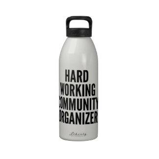 Hard Working Community Organizer Water Bottles