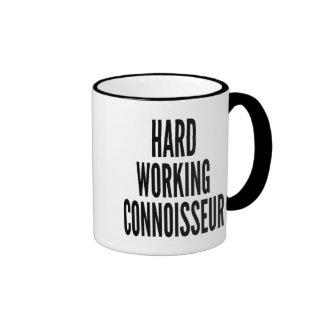 Hard Working Connoisseur Ringer Mug