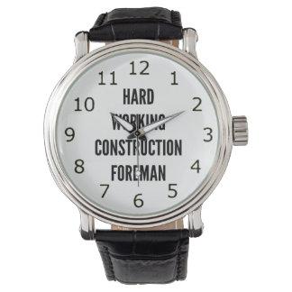 Hard Working Construction Foreman Wristwatch