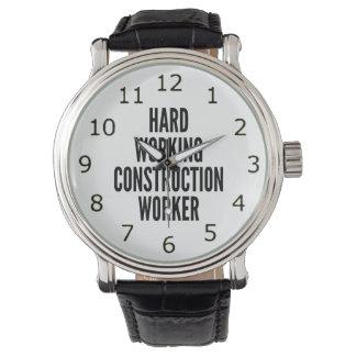Hard Working Construction Worker Watch