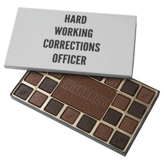 Hard Working Corrections Officer 45 Piece Box Of Chocolates