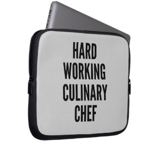 Hard Working Culinary Chef Laptop Sleeve