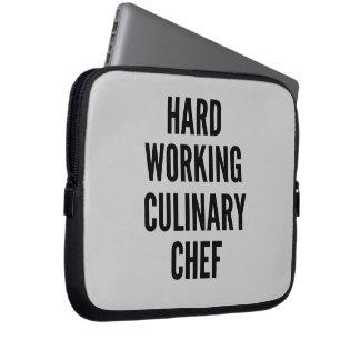 Hard Working Culinary Chef Laptop Sleeve