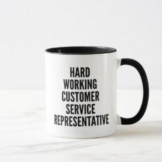 Hard Working Customer Service Representative Mug