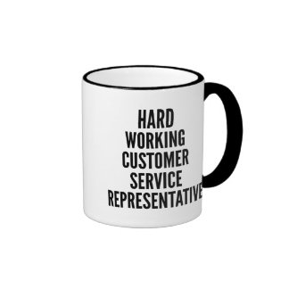 Hard Working Customer Service Representative Ringer Mug