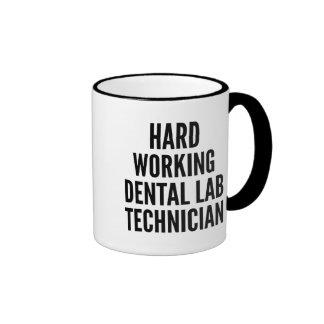 Hard Working Dental Lab Technician Ringer Mug