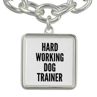 Hard Working Dog Trainer Charm Bracelet
