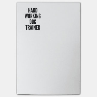 Hard Working Dog Trainer Post-it® Notes