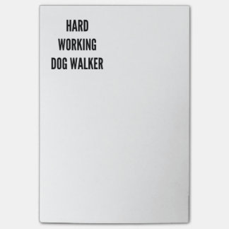 Hard Working Dog Walker Post-it® Notes