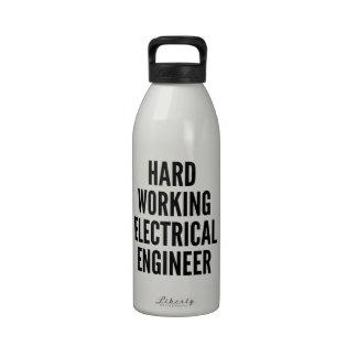 Hard Working Electrical Engineer Drinking Bottles