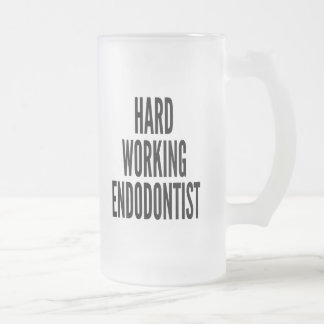 Hard Working Endodontist Frosted Glass Beer Mug