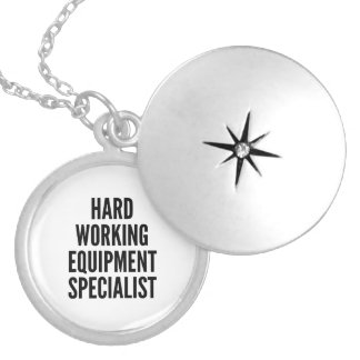 Hard Working Equipment Specialist Silver Plated Necklace