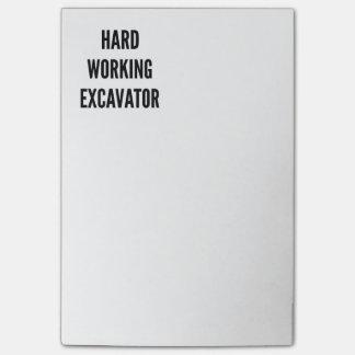 Hard Working Excavator Post-it Notes