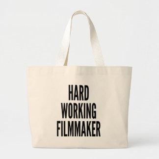 Hard Working Filmmaker Large Tote Bag