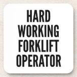 Hard Working Forklift Operator Drink Coaster