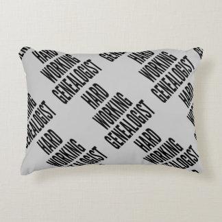 Hard Working Genealogist Decorative Pillow