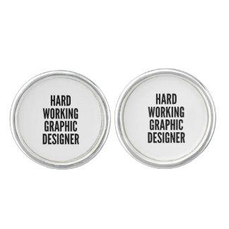 Hard Working Graphic Designer Cufflinks