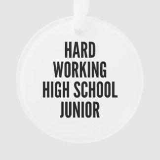 Hard Working High School Junior Ornament