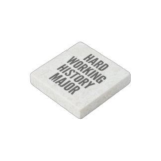 Hard Working History Major Stone Magnet