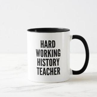 Hard Working History Teacher Mug