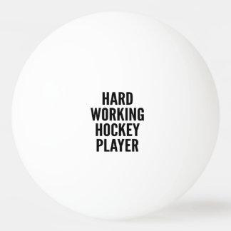 Hard Working Hockey Player Ping-Pong Ball