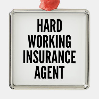 Hard Working Insurance Agent Christmas Tree Ornament