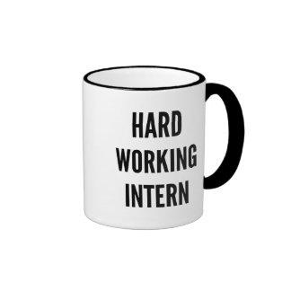 Hard Working Intern Ringer Mug