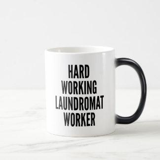 Hard Working Laundromat Worker Magic Mug