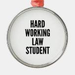 Hard Working Law Student Metal Ornament