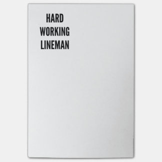 Hard Working Lineman Post-it Notes