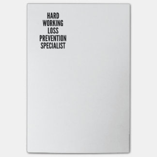 Hard Working Loss Prevention Specialist Post-it Notes