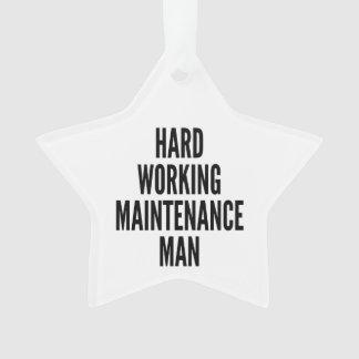 Hard Working Maintenance Man Ornament