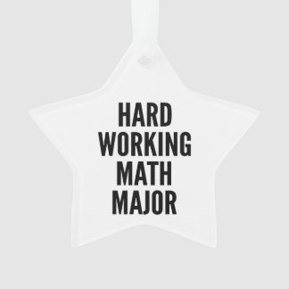 Hard Working Math Major Ornament