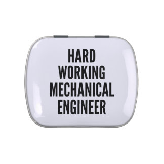 Hard Working Mechanical Engineer Candy Tin