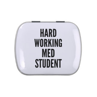 Hard Working Med Student Jelly Belly Candy Tin