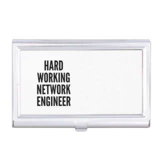 Hard Working Network Engineer Case For Business Cards